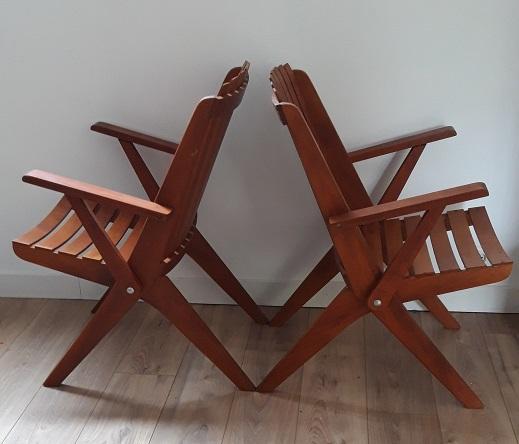 2 fauteuils en teck