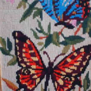 borderie papillon
