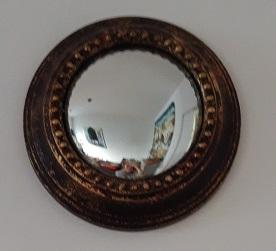 Miroir sorcière laiton 26 cm