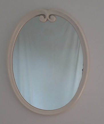 Miroir porcelaine blanc